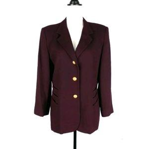 Oleg Cassini vintage wool blazer jacket